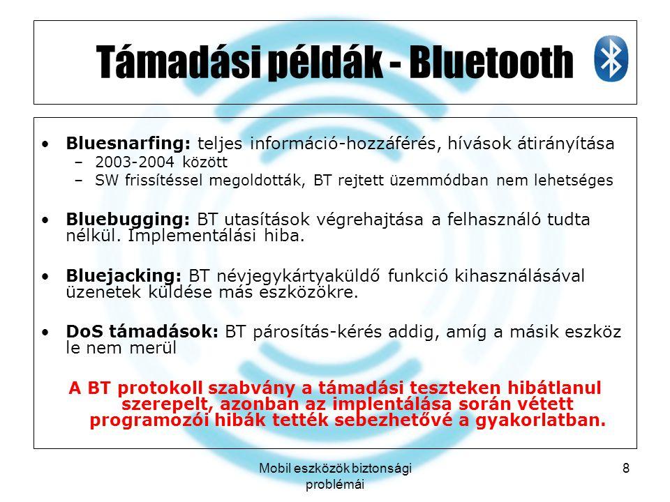 Támadási példák - Bluetooth