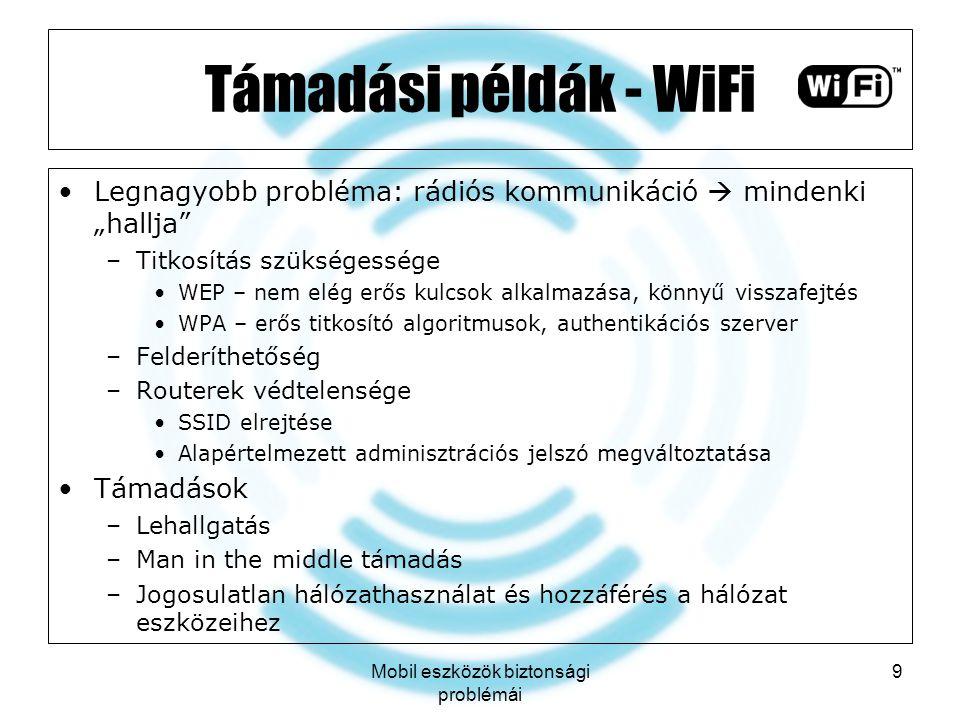 Mobil eszközök biztonsági problémái