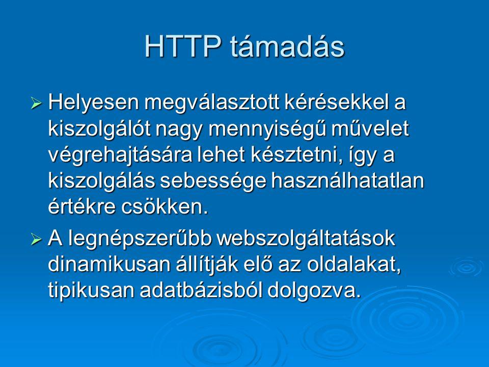 HTTP támadás
