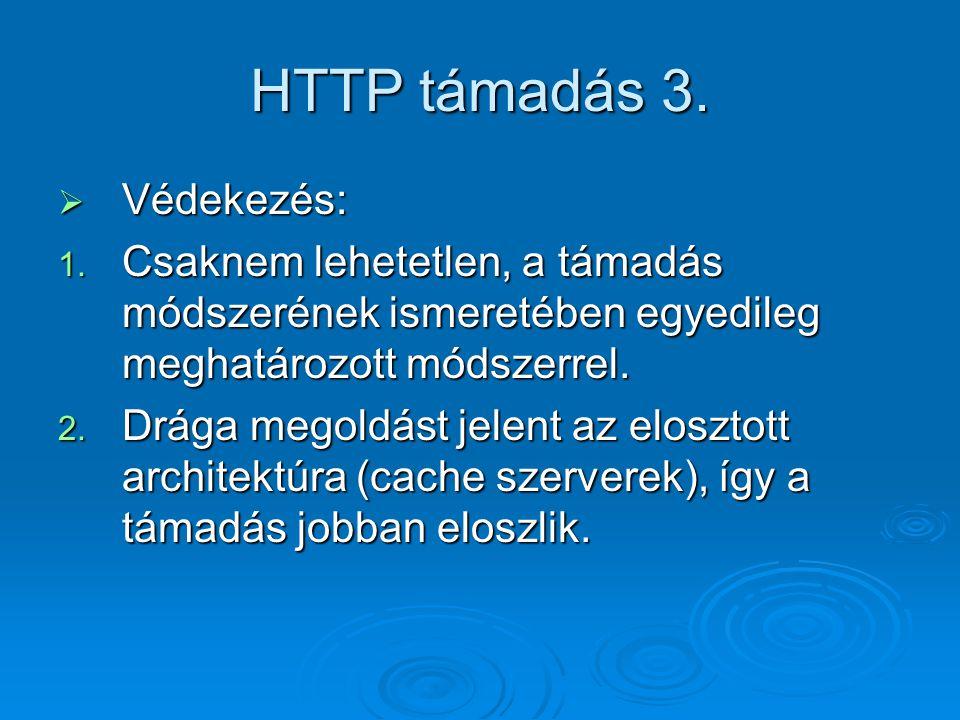 HTTP támadás 3. Védekezés: