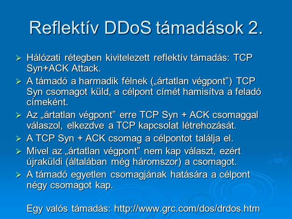 Reflektív DDoS támadások 2.