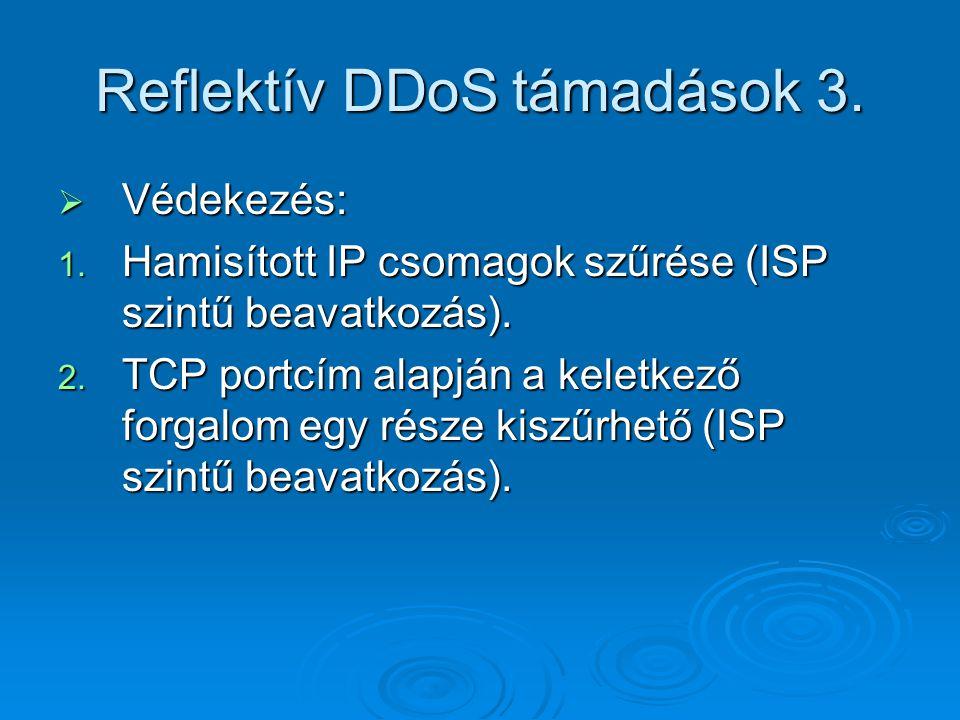 Reflektív DDoS támadások 3.