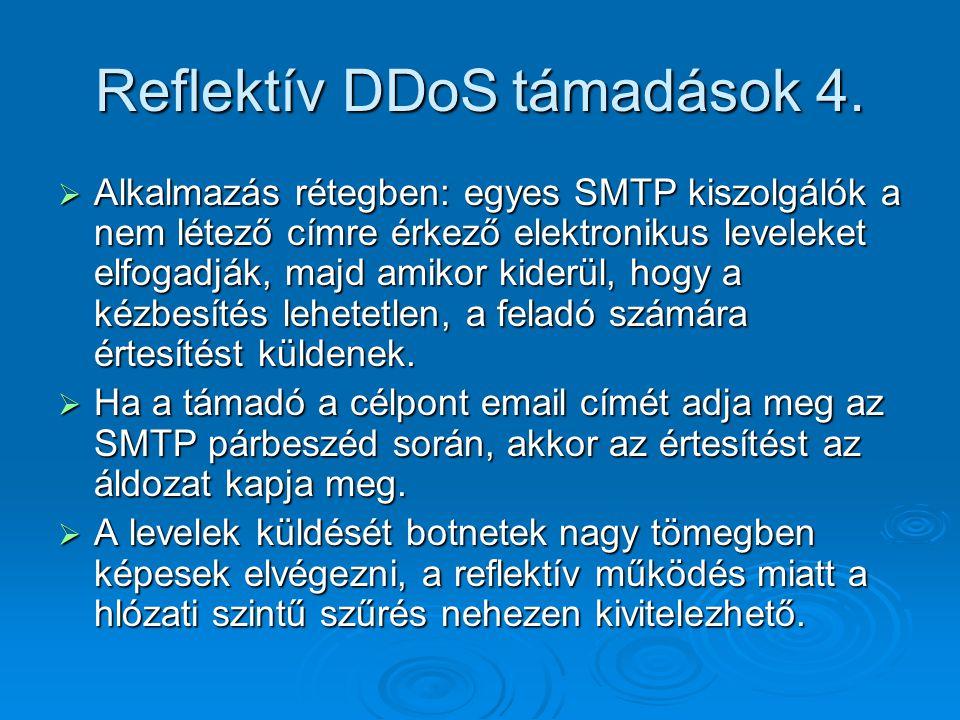 Reflektív DDoS támadások 4.