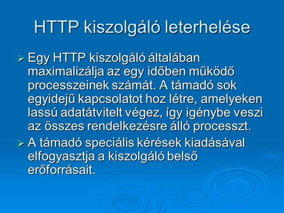 HTTP kiszolgáló leterhelése