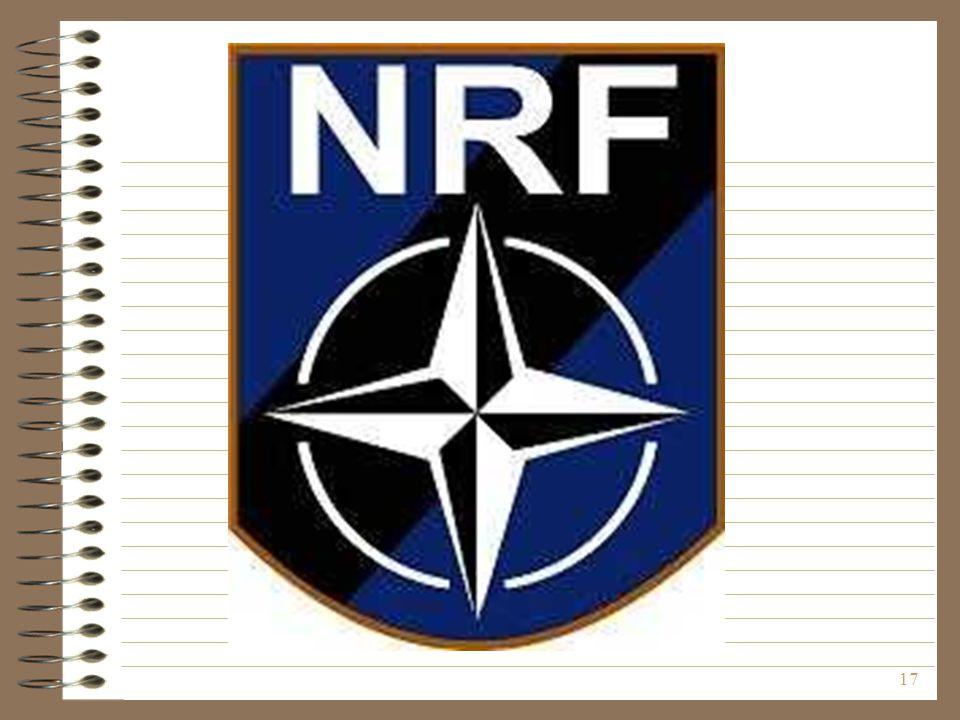 A vázlaton a NATO Válságreagáló Erő emblémája látható