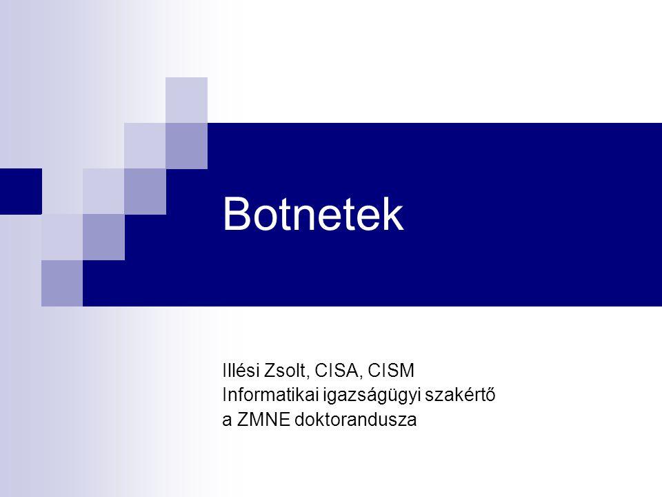 Botnetek Illési Zsolt, CISA, CISM Informatikai igazságügyi szakértő