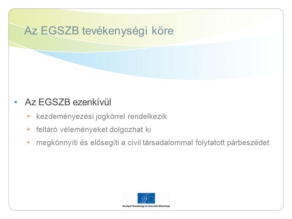 Az EGSZB tevékenységi köre