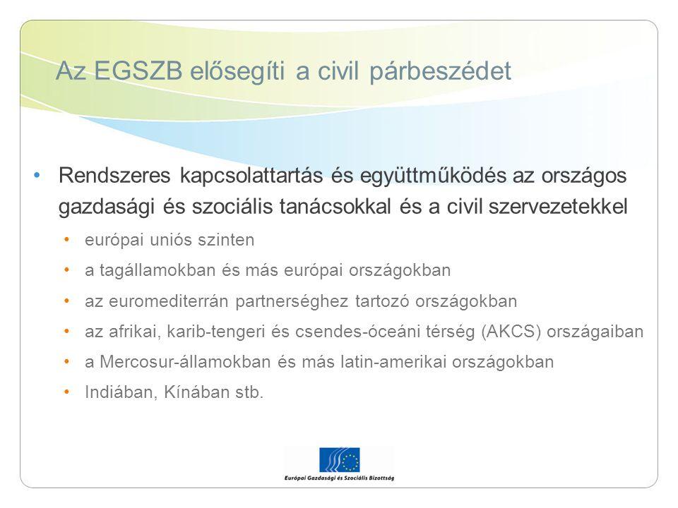 Az EGSZB elősegíti a civil párbeszédet