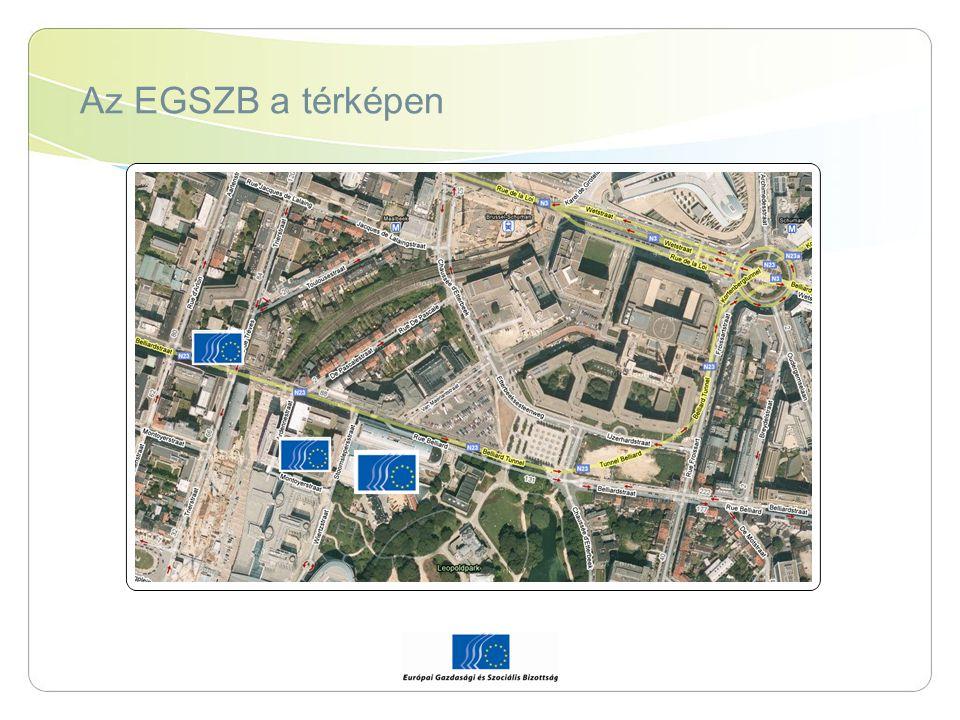 Az EGSZB a térképen