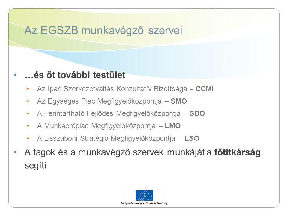 Az EGSZB munkavégző szervei