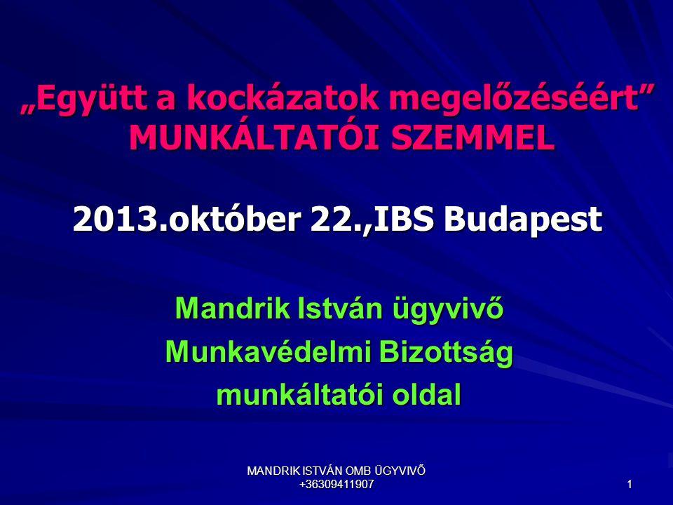 Mandrik István ügyvivő Munkavédelmi Bizottság munkáltatói oldal