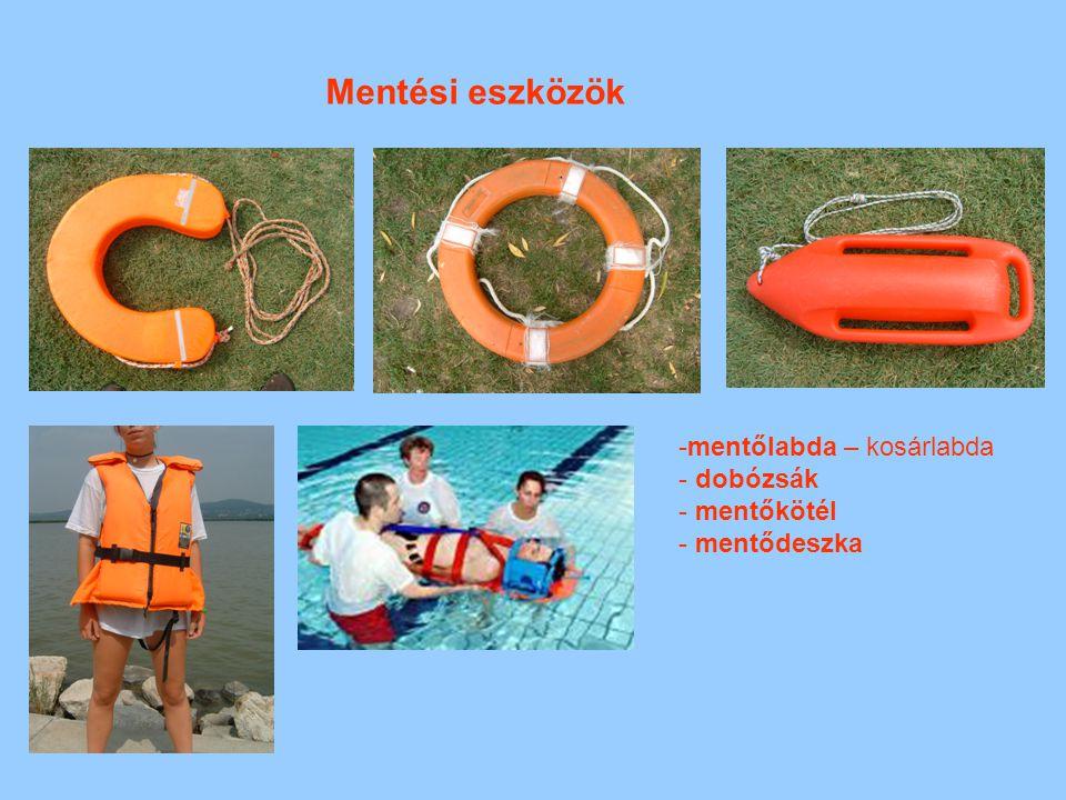 Mentési eszközök mentőlabda – kosárlabda dobózsák mentőkötél