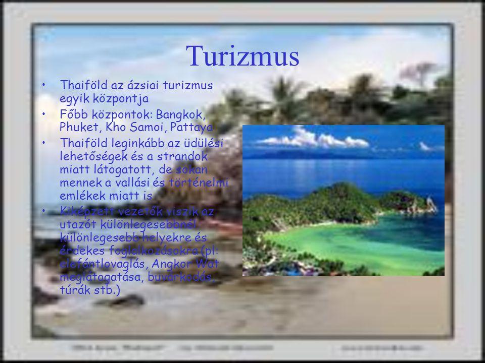 Turizmus Thaiföld az ázsiai turizmus egyik központja