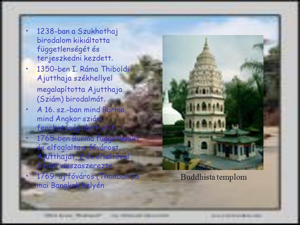 1238-ban a Szukhothaj birodalom kikiáltotta függetlenségét és terjeszkedni kezdett.