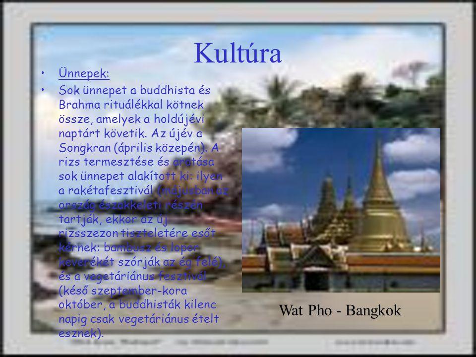Kultúra Wat Pho - Bangkok Ünnepek: