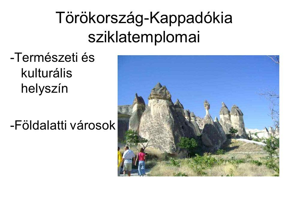 Törökország-Kappadókia sziklatemplomai