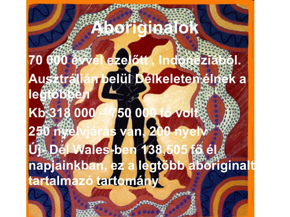Aboriginalok 70 000 évvel ezelőtt , Indonéziából.
