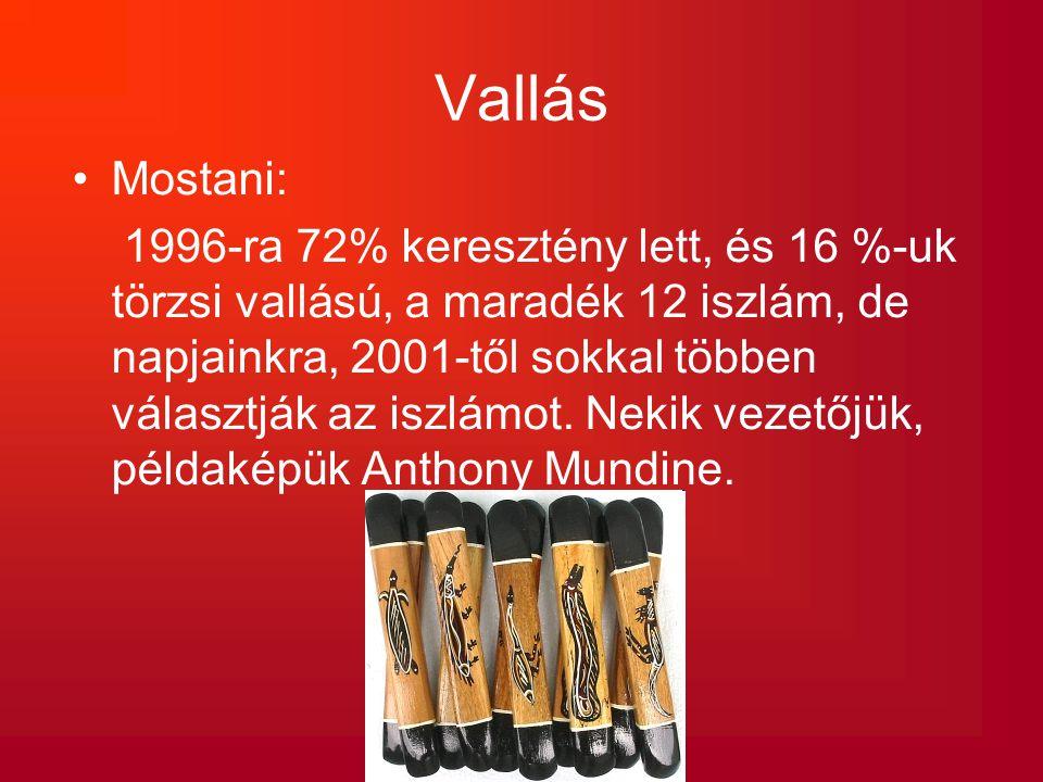 Vallás Mostani: