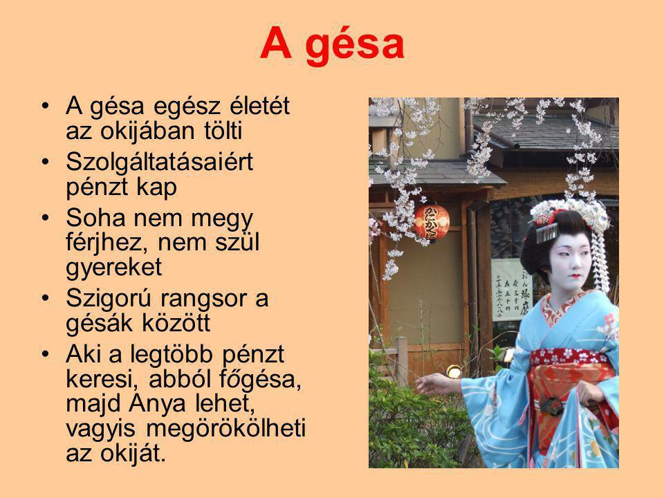 A gésa A gésa egész életét az okijában tölti