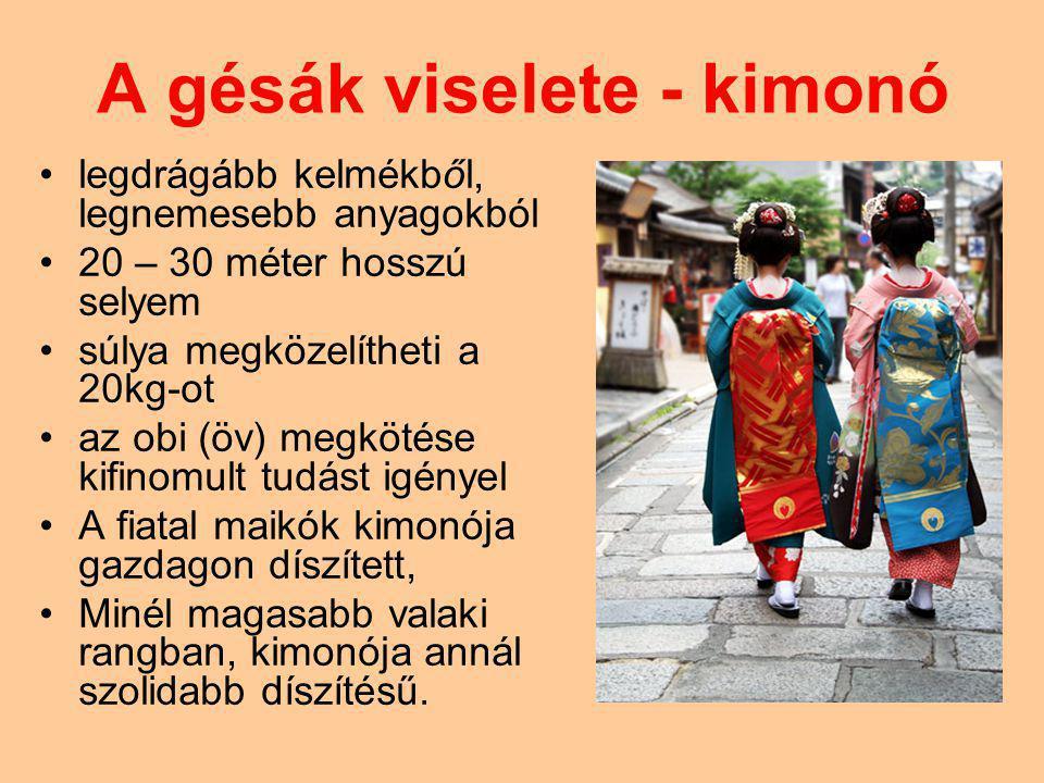 A gésák viselete - kimonó