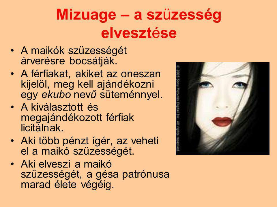 Mizuage – a szüzesség elvesztése