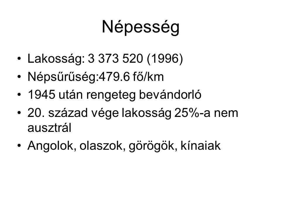 Népesség Lakosság: 3 373 520 (1996) Népsűrűség:479.6 fő/km