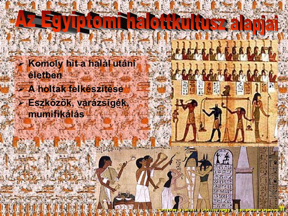 Az Egyiptomi halottkultusz alapjai