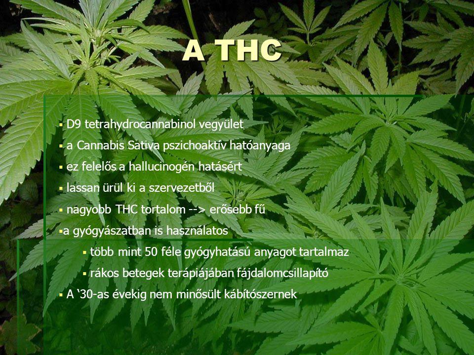 A THC D9 tetrahydrocannabinol vegyület