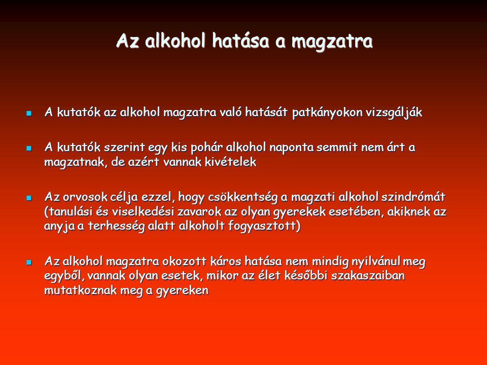 Az alkohol hatása a magzatra