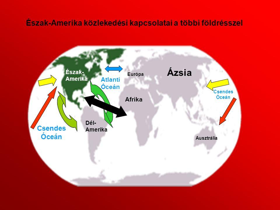 Ázsia Észak-Amerika közlekedési kapcsolatai a többi földrésszel