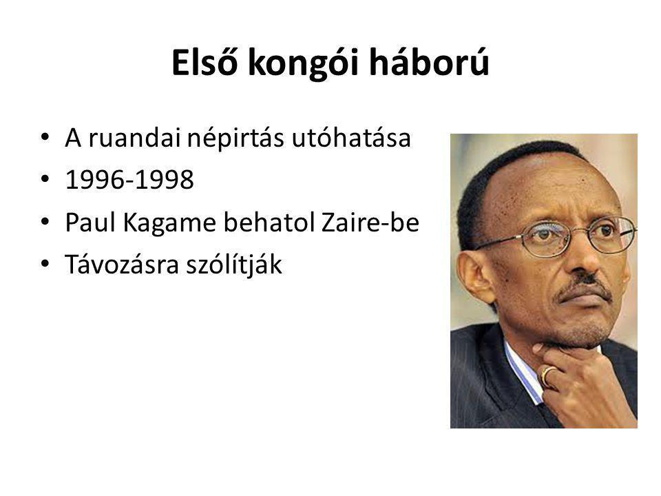 Első kongói háború A ruandai népirtás utóhatása 1996-1998