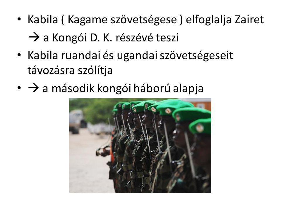 Kabila ( Kagame szövetségese ) elfoglalja Zairet