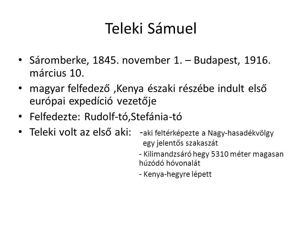 Teleki Sámuel Sáromberke, 1845. november 1. – Budapest, 1916. március 10.
