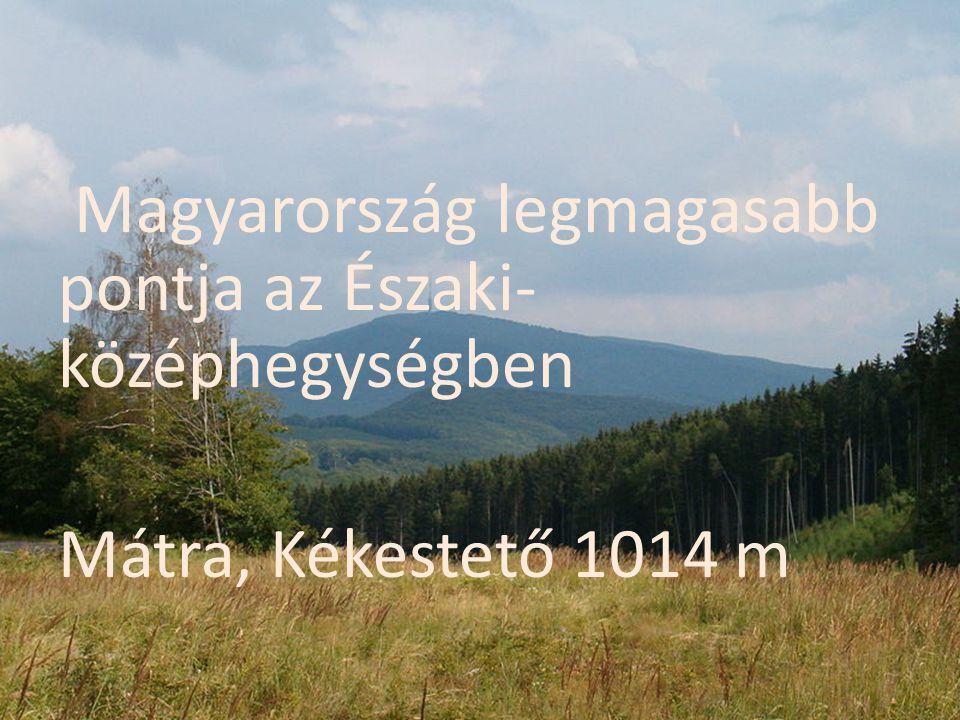Magyarország legmagasabb pontja az Északi-középhegységben Mátra, Kékestető 1014 m