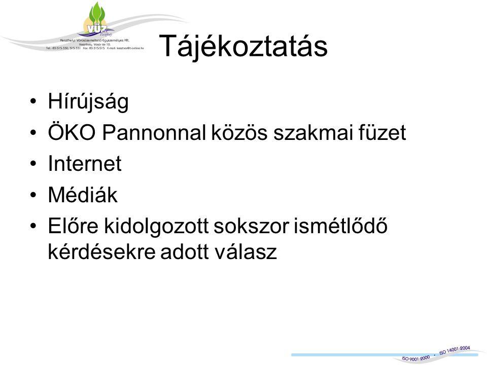 Tájékoztatás Hírújság ÖKO Pannonnal közös szakmai füzet Internet