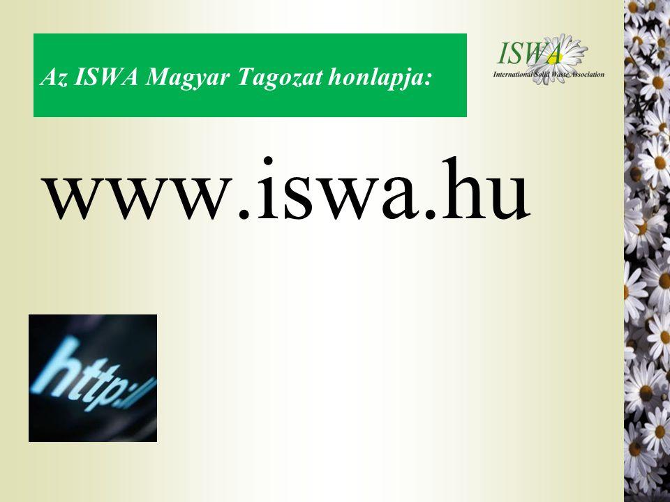 Az ISWA Magyar Tagozat honlapja: