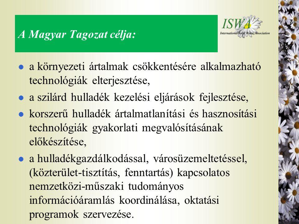 A Magyar Tagozat célja:
