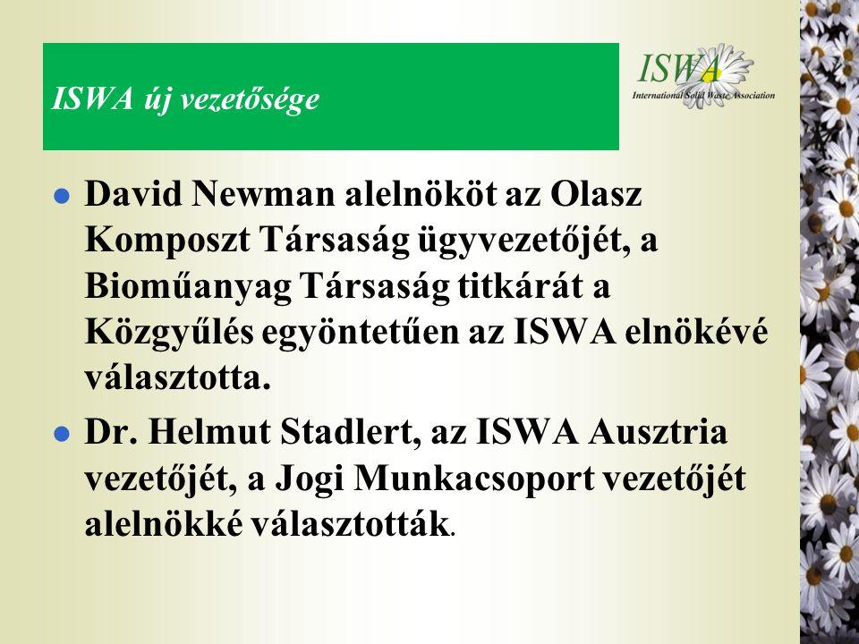 ISWA új vezetősége