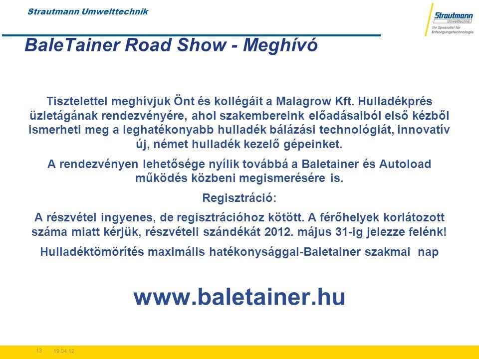 BaleTainer Road Show - Meghívó