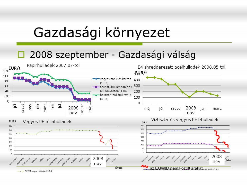 Gazdasági környezet 2008 szeptember - Gazdasági válság