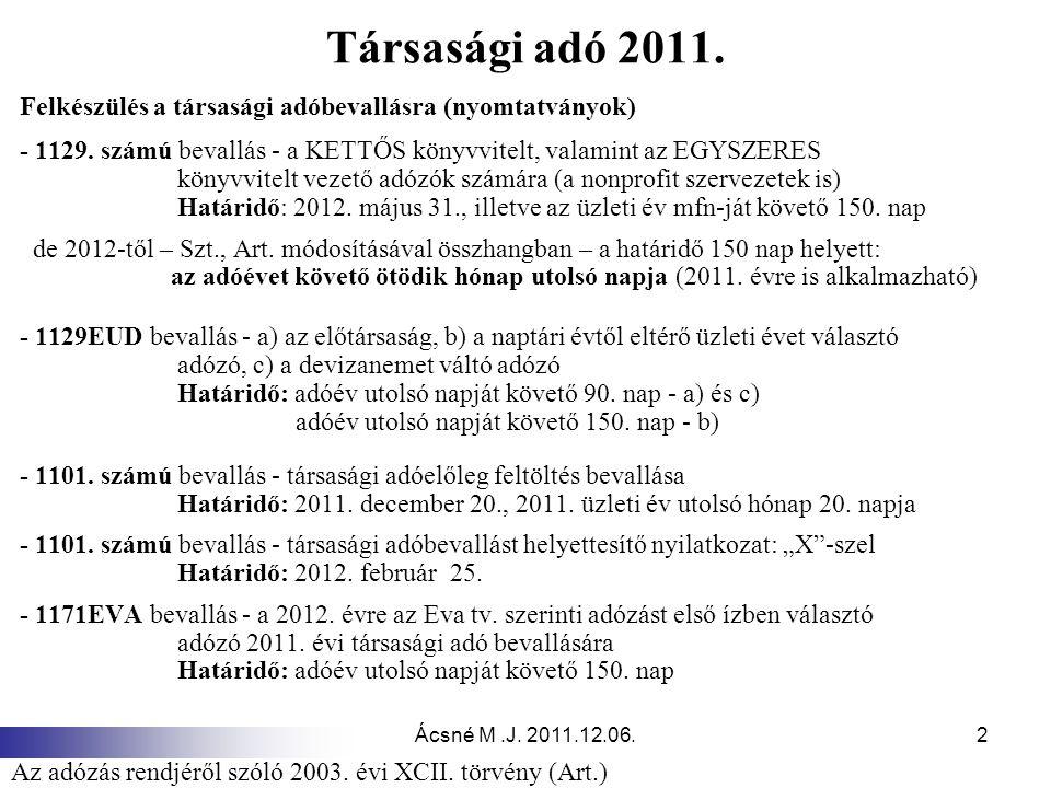 Társasági adó 2011. Felkészülés a társasági adóbevallásra (nyomtatványok) - 1129. számú bevallás - a KETTŐS könyvvitelt, valamint az EGYSZERES.