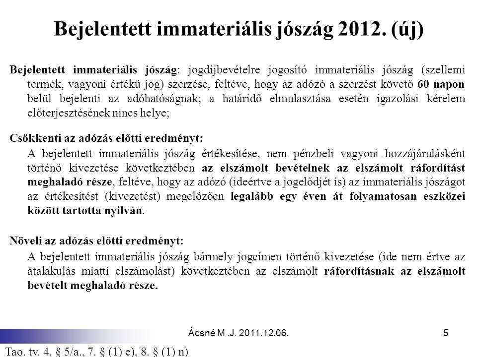 Bejelentett immateriális jószág 2012. (új)