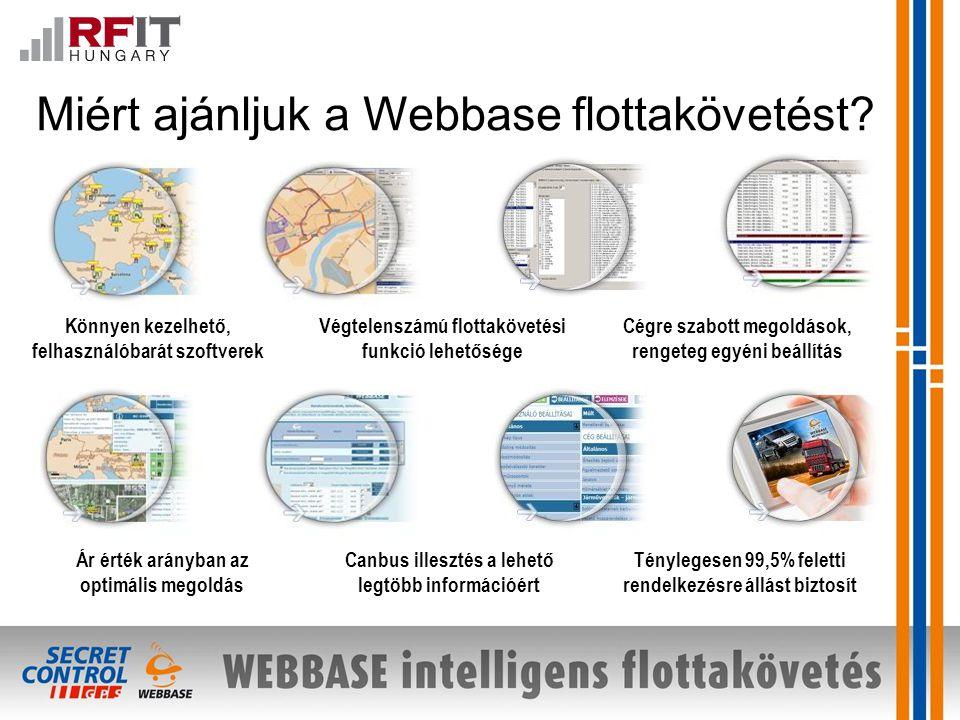 Miért ajánljuk a Webbase flottakövetést