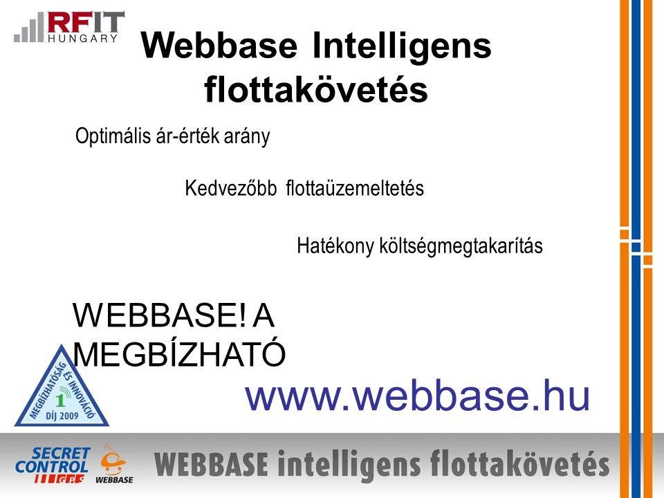 Webbase Intelligens flottakövetés