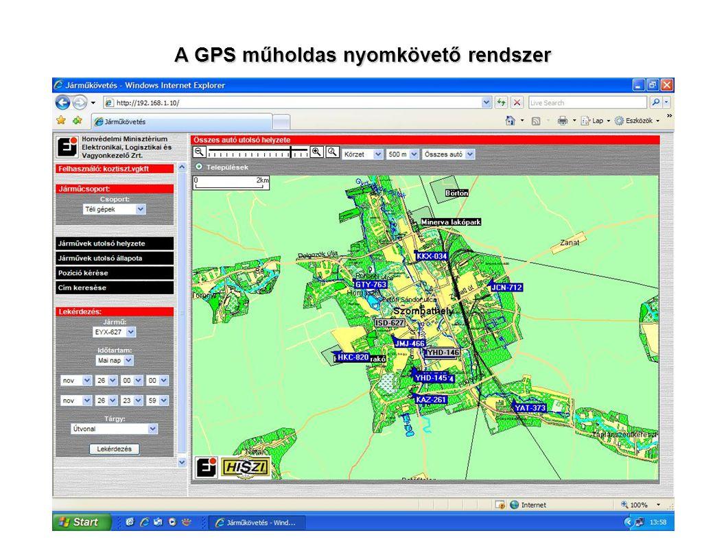 A GPS műholdas nyomkövető rendszer