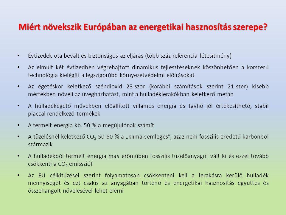 Miért növekszik Európában az energetikai hasznosítás szerepe