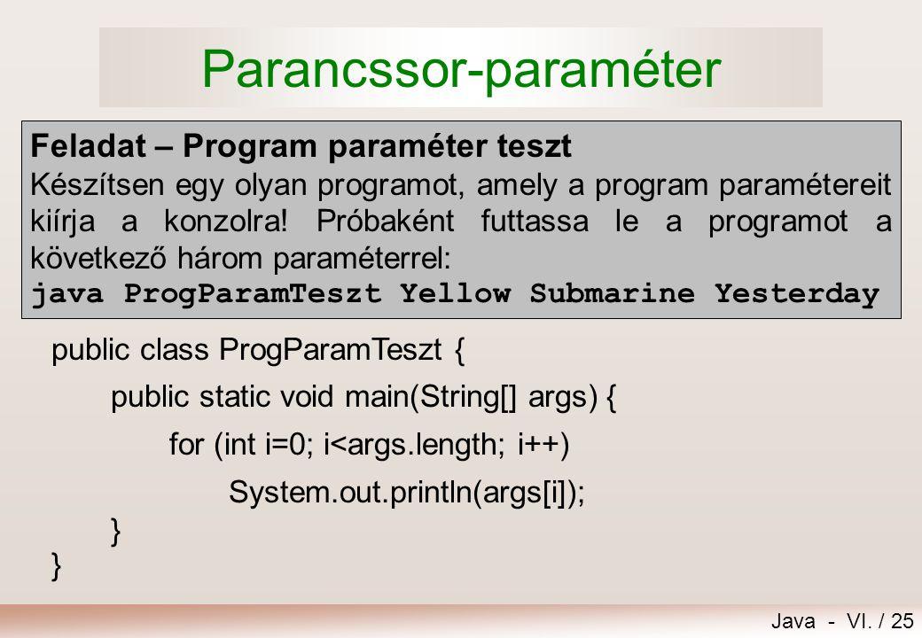 Parancssor-paraméter
