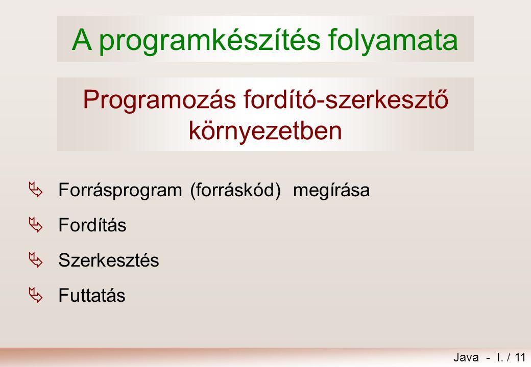 Programozás fordító-szerkesztő környezetben