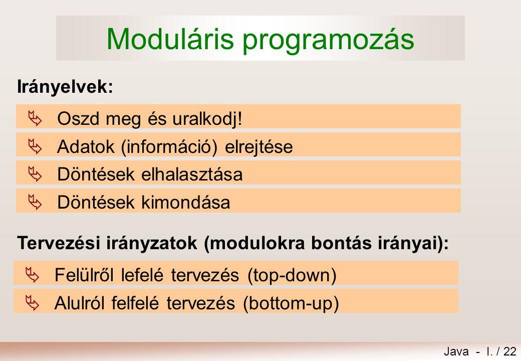 Moduláris programozás
