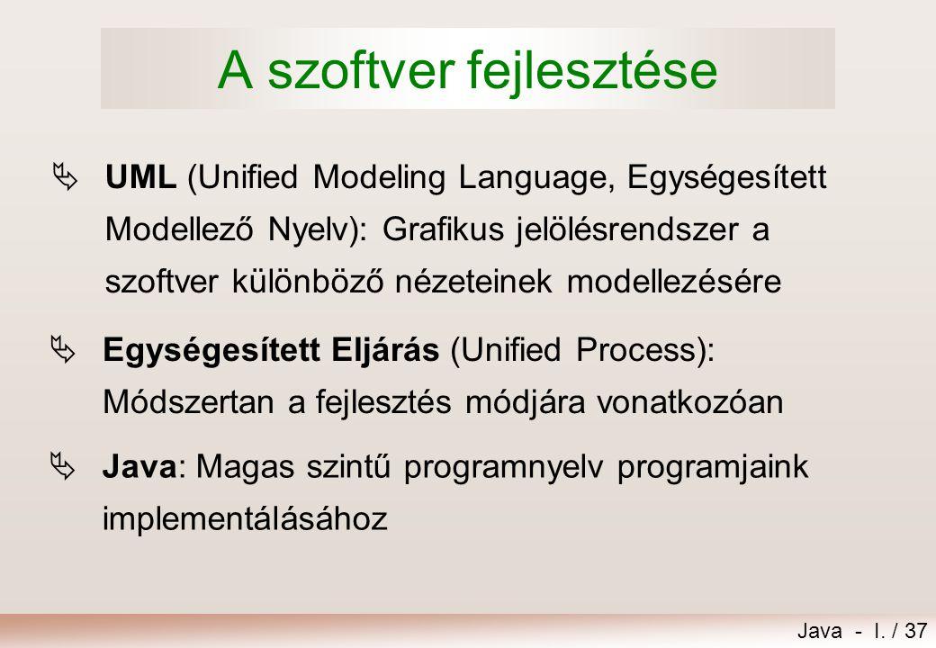 A szoftver fejlesztése